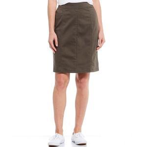 ウェストボンド レディース スカート ボトムス Seamed Pull-On Skirt Olive|astyshop