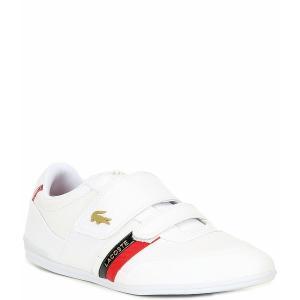 ラコステ メンズ スニーカー シューズ Men's Misano Strap 0120 Sneakers White/Red|astyshop
