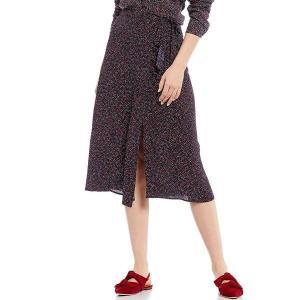 ジュールズ レディース スカート ボトムス Alyssa Dotty Heart Print A-Line Front Slit Woven Midi Skirt Dotty Heart|astyshop
