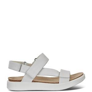 エコー レディース サンダル シューズ Corksphere Leather Strap Sandals White astyshop