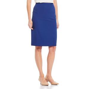 プレストンアンドヨーク レディース スカート ボトムス Kelly Mid-Rise Straight Hem Pencil Skirt Marina|astyshop