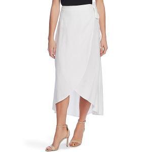 ヴィンスカムート レディース スカート ボトムス Linen Wrap Midi Skirt Ultra White|astyshop