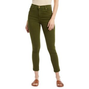 カレンケーン レディース デニム ボトムス Zuma Mid-Rise Cropped Jeans Olive|astyshop