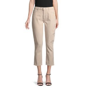 ハドソンジーンズ レディース デニム ボトムス Barbara Cotton-Blend Cropped Jeans Ivory|astyshop