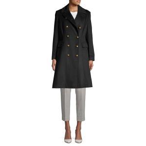 ラルフローレン レディース コート アウター Double-Breasted Wool-Blend Coat Black astyshop