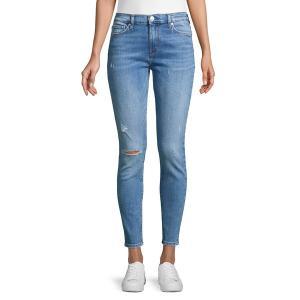 ハドソンジーンズ レディース デニム ボトムス Nico Mid-Rise Distressed Skinny Jeans Remixing|astyshop