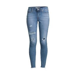 リーバイス レディース デニム ボトムス Distressed Skinny Jeans Blue|astyshop