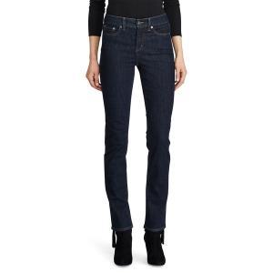 ラルフローレン レディース デニム ボトムス Premier Straight Curvy Jeans Dark Blue|astyshop