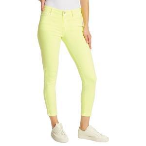 エラモス レディース デニム ボトムス Mid-Rise Skinny-Fit Ankle Jeans Electric Lime|astyshop