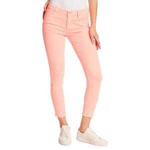 エラモス レディース デニム ボトムス Mid-Rise Skinny-Fit Ankle Jeans Electric Coral|astyshop