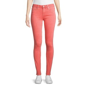 ペイジジーンズ レディース デニム ボトムス Mid-Rise Skinny Buttoned Jeans Pink|astyshop