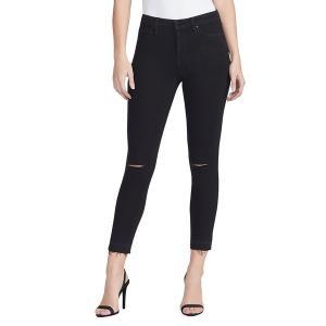 ウィリアム ラスト レディース デニム ボトムス Sculpted High-Rise Skinny Ankle Jeans Black|astyshop