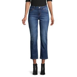 ジョーンズニューヨーク レディース デニム ボトムス Lex Flared Ankle Jeans Montana Blue|astyshop