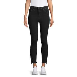 リーバイス レディース デニム ボトムス Fringe-Trimmed Ankle Dark Jeans Infringe Black|astyshop