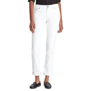 ラルフローレン レディース デニム ボトムス Petite Superstretch Collection Slimming Premier Straight Jeans White|astyshop