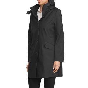 ラルフローレン レディース コート アウター Hooded Cotton-Blend Jacket Black astyshop