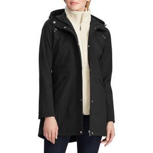 ラルフローレン レディース コート アウター Faux Fur-Trim Hooded Coat Black astyshop