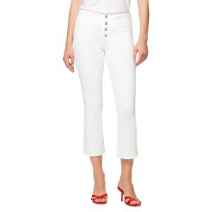 サンクチュアリー レディース デニム ボトムス Connector Kick Cropped Jeans White|astyshop