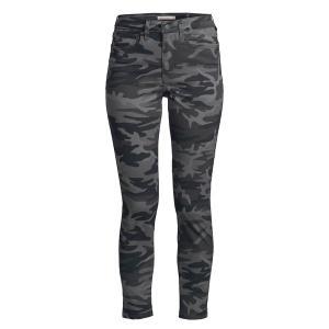 リーバイス レディース デニム ボトムス 711 Camouflage Skinny Jeans Black Camo|astyshop