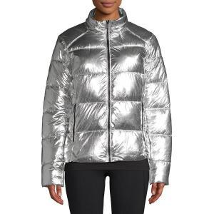 マークニューヨーク レディース ジャケット・ブルゾン アウター Metallic Puffer Jacket Metallic Silver|astyshop