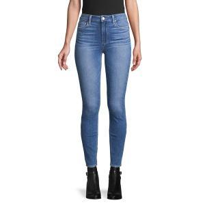 ペイジジーンズ レディース デニム ボトムス Stretch Ankle-Length Jeans Hoston Blue|astyshop
