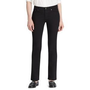 ラルフローレン レディース デニム ボトムス Modern Straight Curvy Jeans Black|astyshop