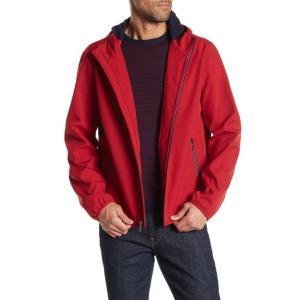トミー ヒルフィガー メンズ パーカー・スウェットシャツ アウター Soft Shell Fleece Active Hoodie RED BERRY|astyshop