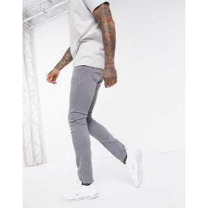 ジャック アンド ジョーンズ メンズ デニム ボトムス Jack & Jones Intelligence skinny fit super stretch jeans in light gray Light gray|astyshop