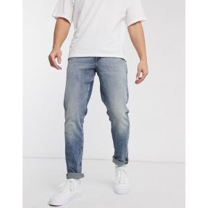 エイソス メンズ デニム ボトムス ASOS DESIGN stretch slim jeans in vintage dark wash blue Dark wash blue|astyshop