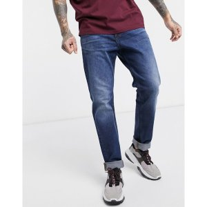 ドクターデニム メンズ デニム ボトムス Dr Denim James relaxed tapered jeans Blue|astyshop
