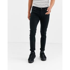 ジャック アンド ジョーンズ メンズ デニム ボトムス Jack & Jones slim fit jeans in black Black|astyshop