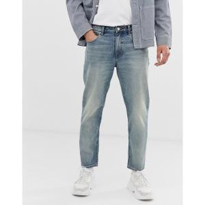 エイソス メンズ デニム ボトムス ASOS DESIGN classic rigid jeans in vintage dirty wash blue Light wash blue|astyshop