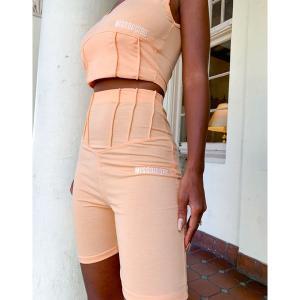 ミスガイデッド レディース カジュアルパンツ ボトムス Missguided two-piece corset detail legging short in orange Orange astyshop