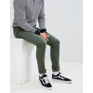 エイソス メンズ デニム ボトムス ASOS DESIGN skinny jeans in green Green|astyshop