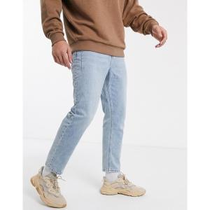レリジョン メンズ デニム ボトムス Religion Kick straight fit jeans in light wash Crush blue|astyshop