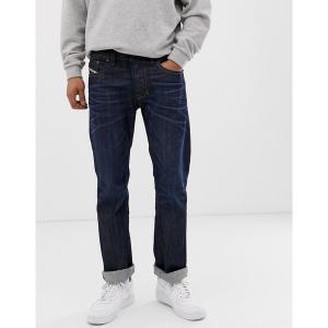 ディーゼル メンズ デニム ボトムス Diesel Larkee straight fit jeans in 0806W dark wash Blue|astyshop