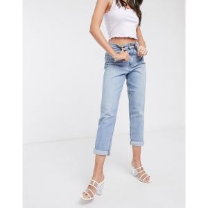 ニュールック レディース デニム ボトムス New Look waist enhance mom jeans in light blue Light blue|astyshop