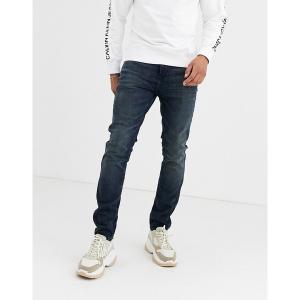 カルバンクライン メンズ デニム ボトムス Calvin Klein Jeans skinny jeans in mid wash Sheriff blue|astyshop