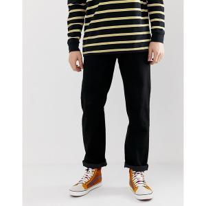 エイソス メンズ デニム ボトムス ASOS DESIGN original fit jeans in black Black|astyshop