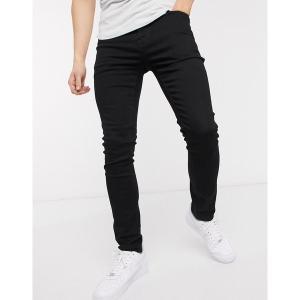 エイソス メンズ デニム ボトムス ASOS DESIGN super skinny jeans in black Black|astyshop