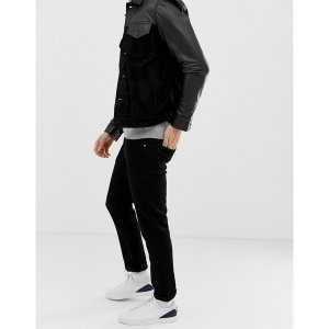 エイソス メンズ デニム ボトムス ASOS DESIGN slim jeans in black Black|astyshop