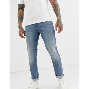 エイソス メンズ デニム ボトムス ASOS DESIGN stretch slim jeans in mid wash blue Mid wash blue|astyshop