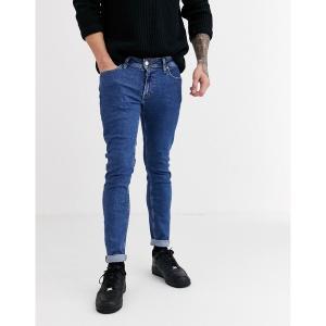 ジャック アンド ジョーンズ メンズ デニム ボトムス Jack & Jones skinny fit stonewash jeans in light blue Stonewash blue denim|astyshop