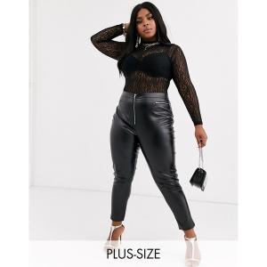 ミスガイデッド レディース カジュアルパンツ ボトムス Missguided pu skinny pants in black Black astyshop