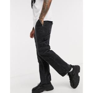 ザラグドプリースト メンズ デニム ボトムス The Ragged Priest Jeans combat jeans in charcoal Gray|astyshop