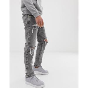 ディーゼル メンズ デニム ボトムス Diesel Mharky 90s slim fit jeans in 089AT gray Gray|astyshop