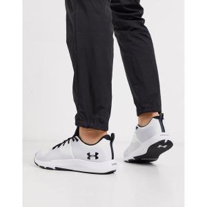 アンダーアーマー メンズ スニーカー シューズ Under Armour Training Charged Engage sneakers in white White astyshop