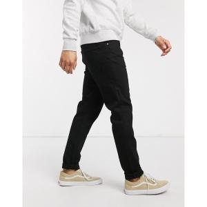 ウィークデイ メンズ デニム ボトムス Weekday Sunday relaxed tapered jeans in black Black|astyshop