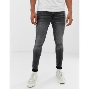 ジャック アンド ジョーンズ メンズ デニム ボトムス Jack & Jones skinny fit jeans in washed black Black denim|astyshop