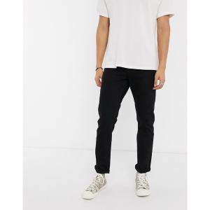 エイソス メンズ デニム ボトムス ASOS DESIGN stretch slim jeans in black Black|astyshop